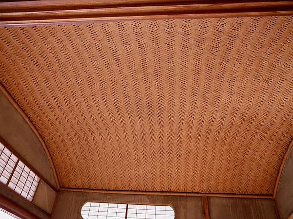 竹編み天井