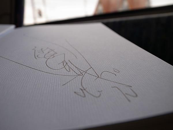 麿赤兒さんサイン