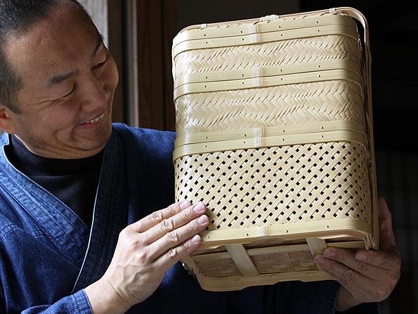 白竹三段弁当箱