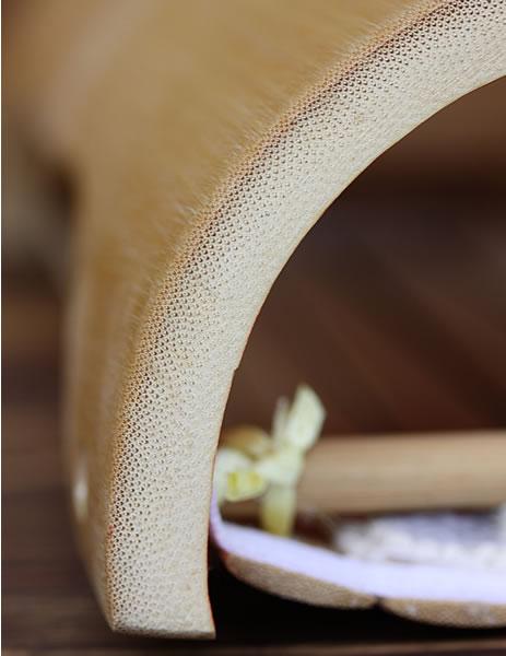 竹枕断面図