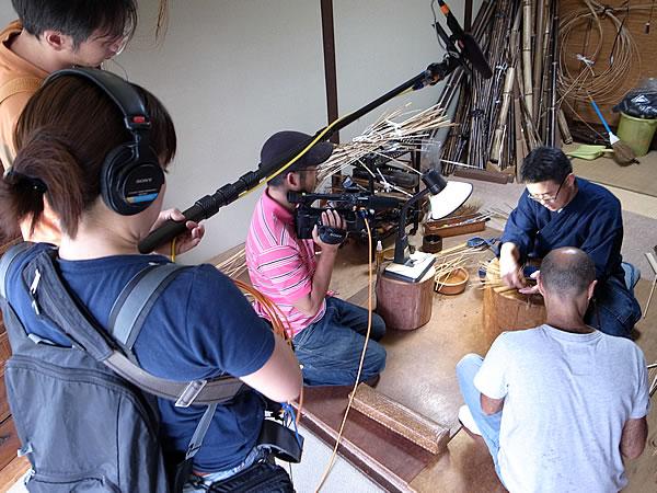 竹編み取材