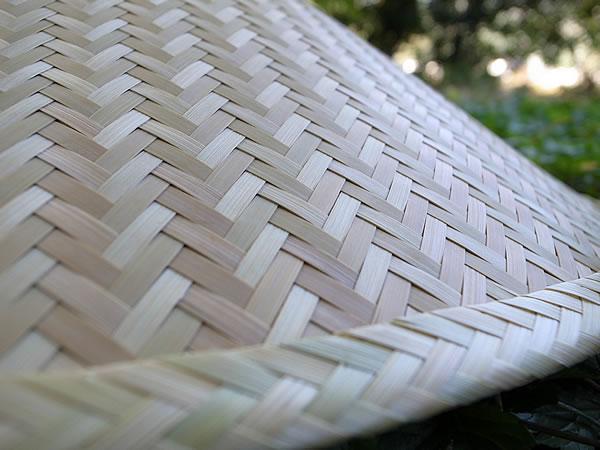 陣笠の編み目