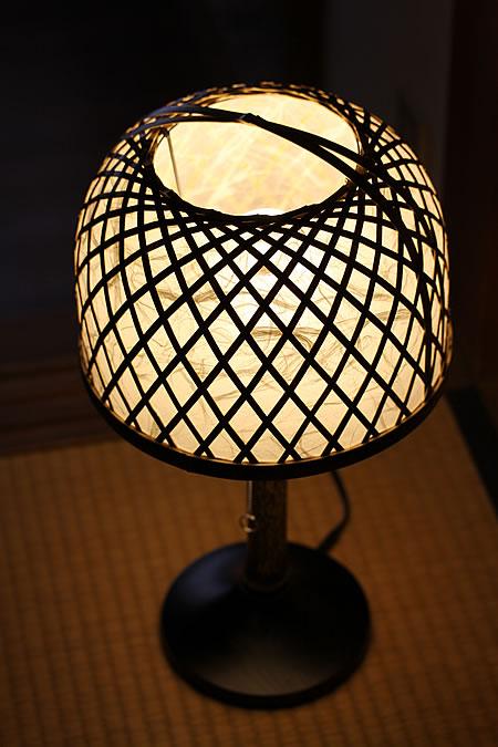 虎竹スタンドライト丸傘