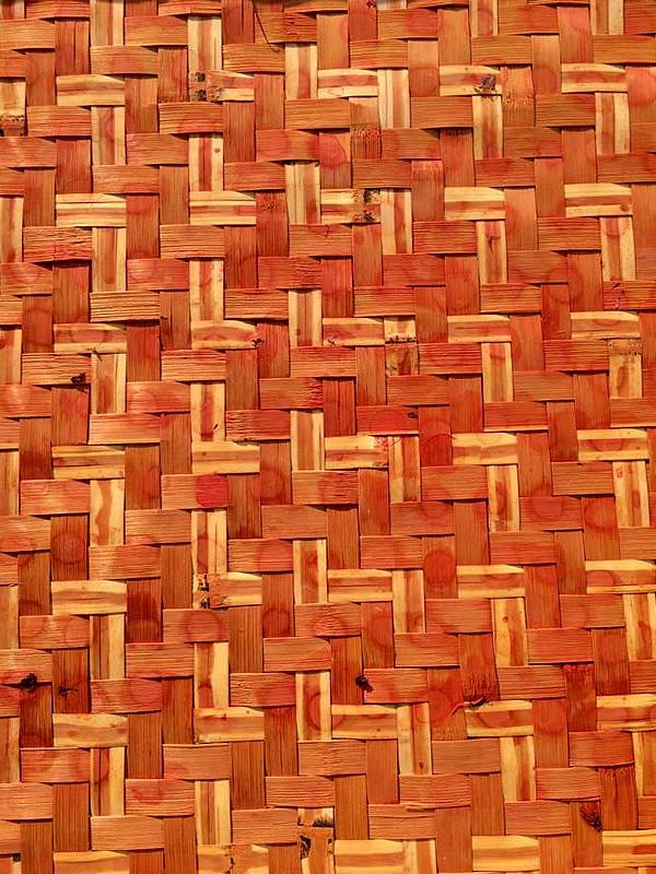 梅干しざるの竹編み