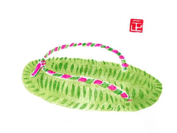 竹皮草履の絵