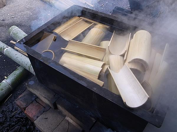 竹皿づくり