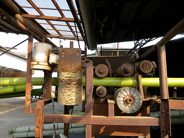 竹の湯抜き機械