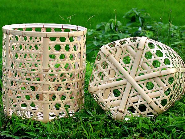 白竹玉入れ籠