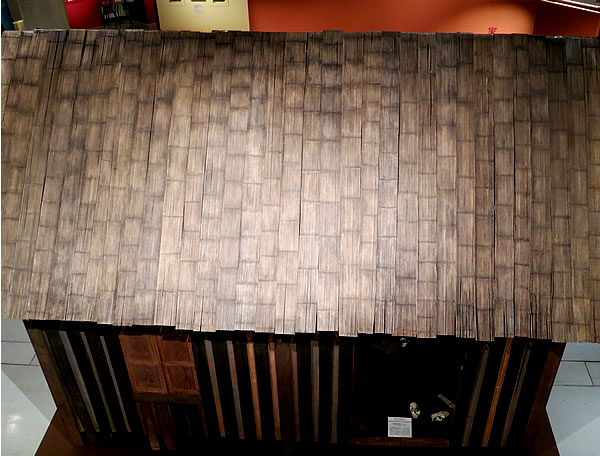 竹製マダガスカルの民家屋根