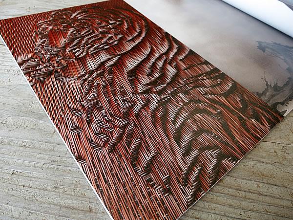 竹で描く虎