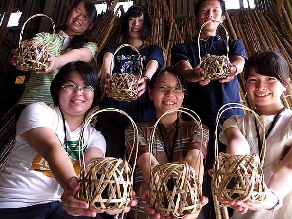 インターンシップ虎竹花籠づくり