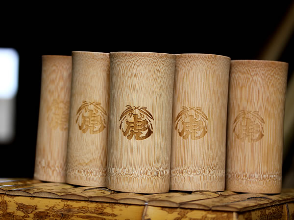 竹のビアグラス