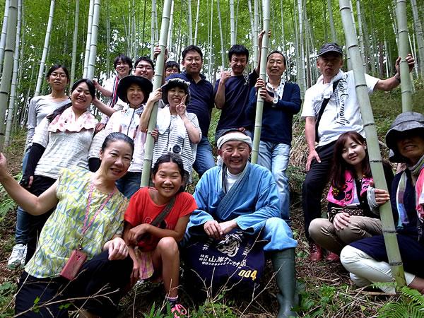 阪本啓一先生の竹林見学