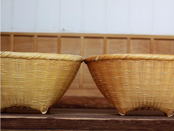 竹籠の経年変化