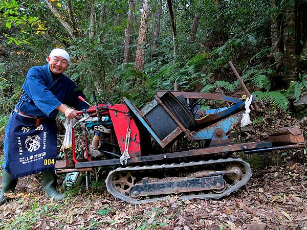 虎竹の里の竹運搬機