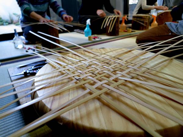 花籠教室四ツ目編み