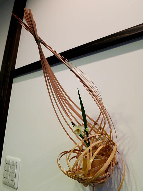 佐野珠寶さん作竹花籠
