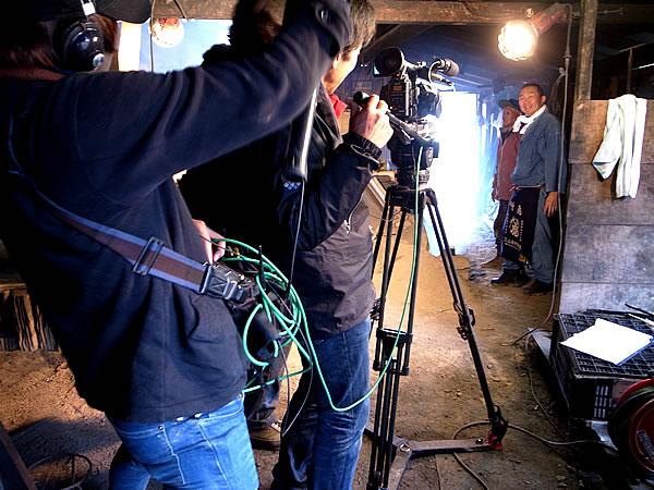 竹炭窯テレビ取材