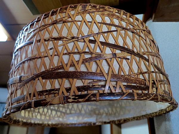 虎竹と白竹の照明