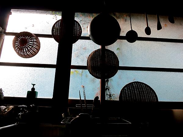 竹のある台所