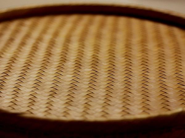 竹網代丸盆