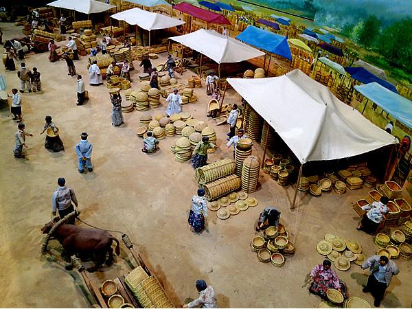 竹市場ジオラマ