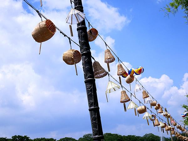潭陽竹祭り街灯