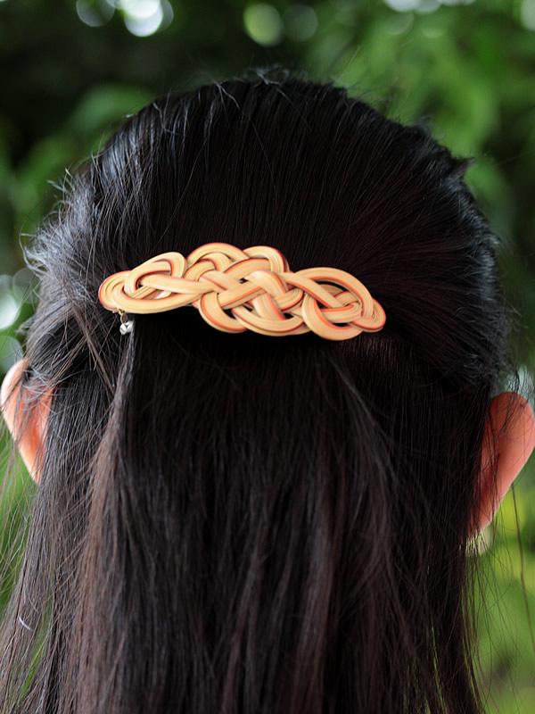 竹の髪留め