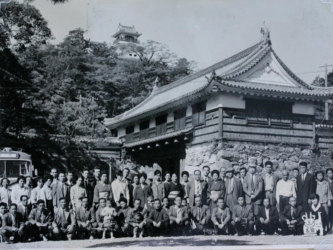 竹虎慰安旅行、昭和36年10月13日高知城