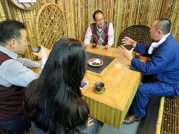 日本唯一の虎竹の部屋