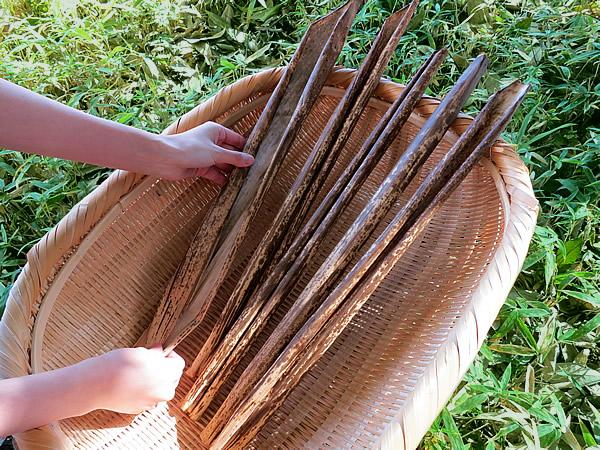 干して使える竹皮