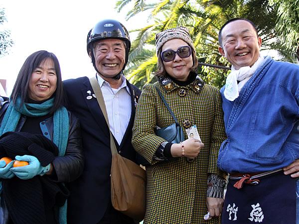 中野和代先生、近森さん、福永さん、竹虎四代目