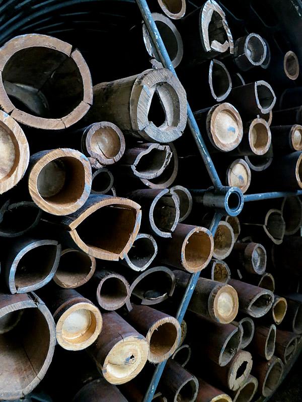 過熱水蒸気処理された竹