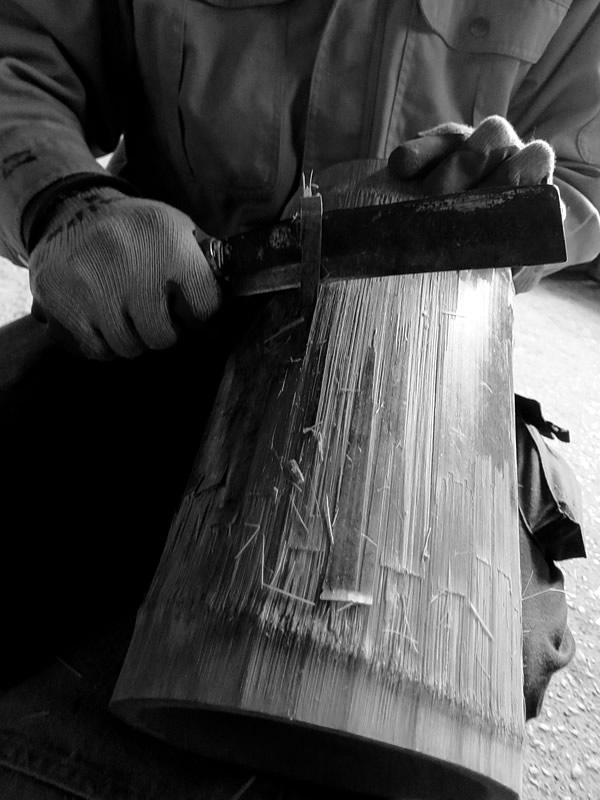 竹ワインクーラー製造