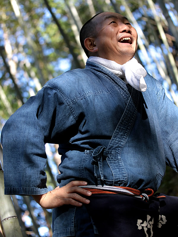 竹虎四代目(山岸義浩、YOSHIHIRO YAMAGISHI、TAKETORA),作務衣,さむえ,SAMUE