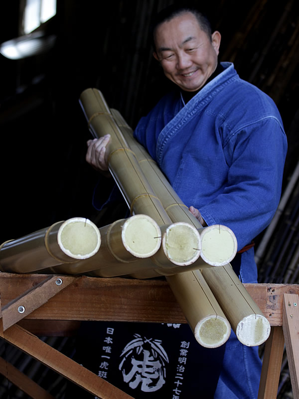 割れ防止竹