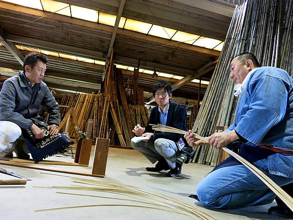 王立芸術大学ファッションショー用竹材