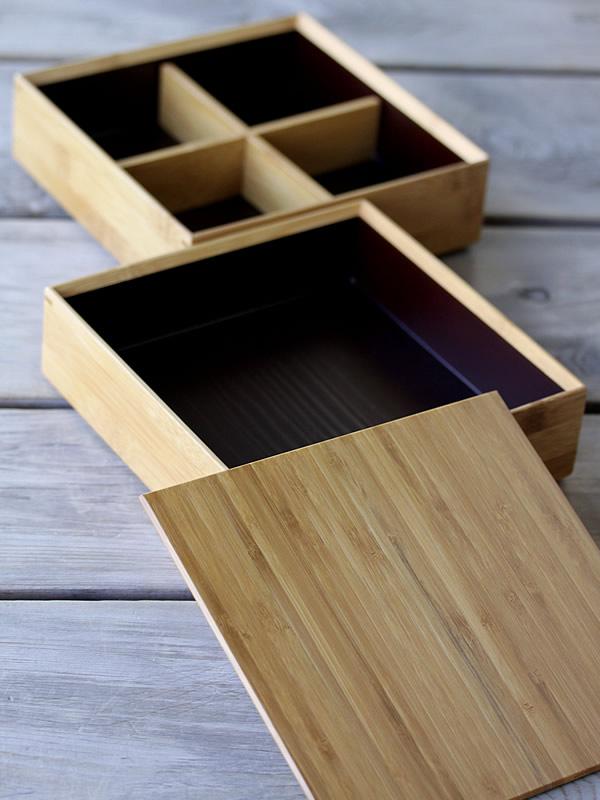 竹集成材の二段重箱