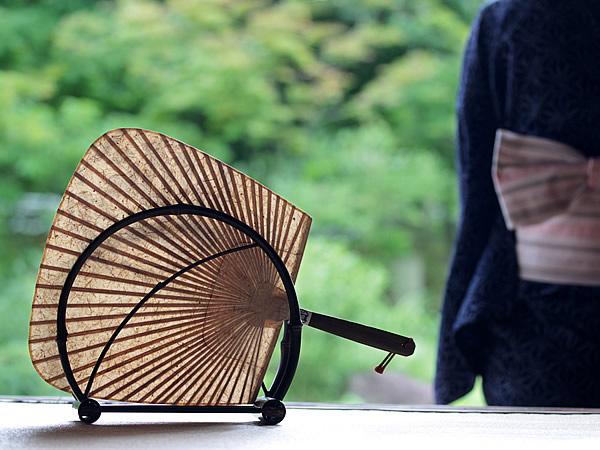 虎竹和紙渋引団扇