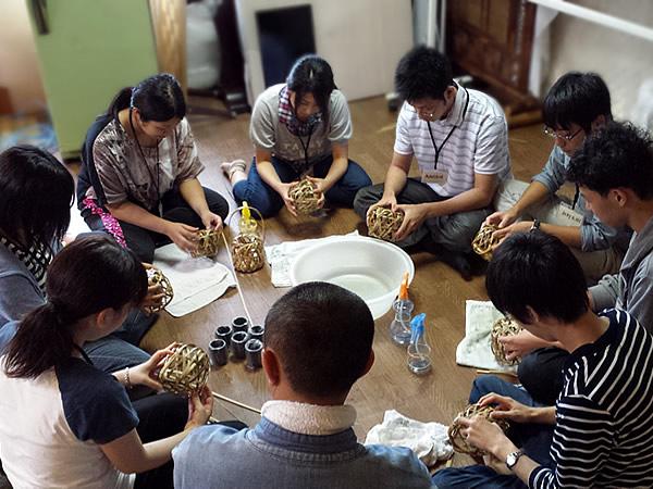 竹虎インターンシップ花籠作り研修2015