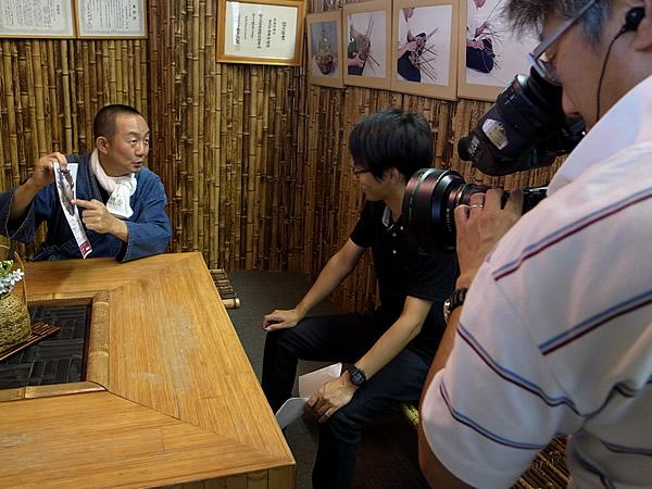 日本唯一の虎竹自動車テレビ取材