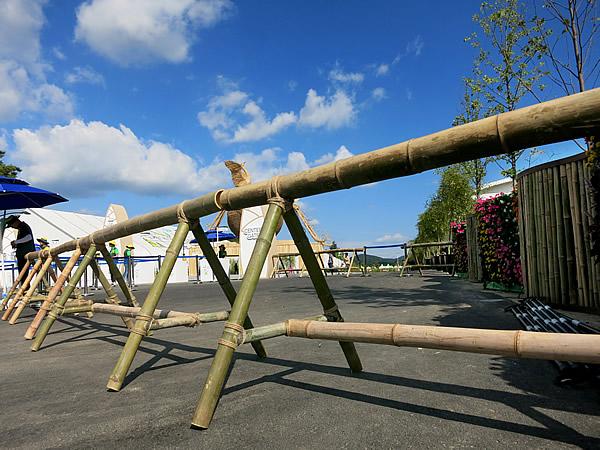 世界竹博覧会(World Bamboo Fair)竹の車止め