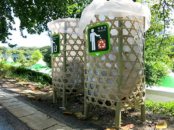 竹製ゴミ箱