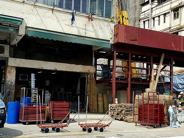 香港の竹足場会社