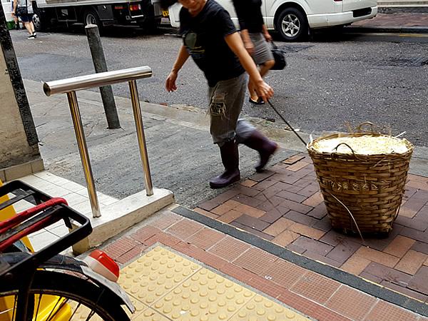香港市場の竹籠
