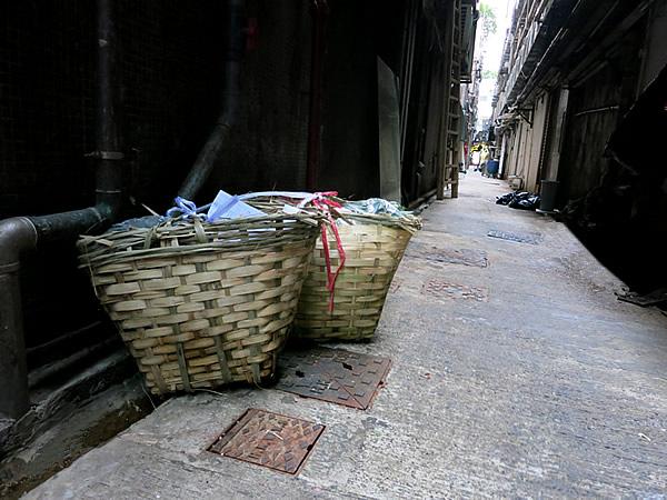 香港の竹籠