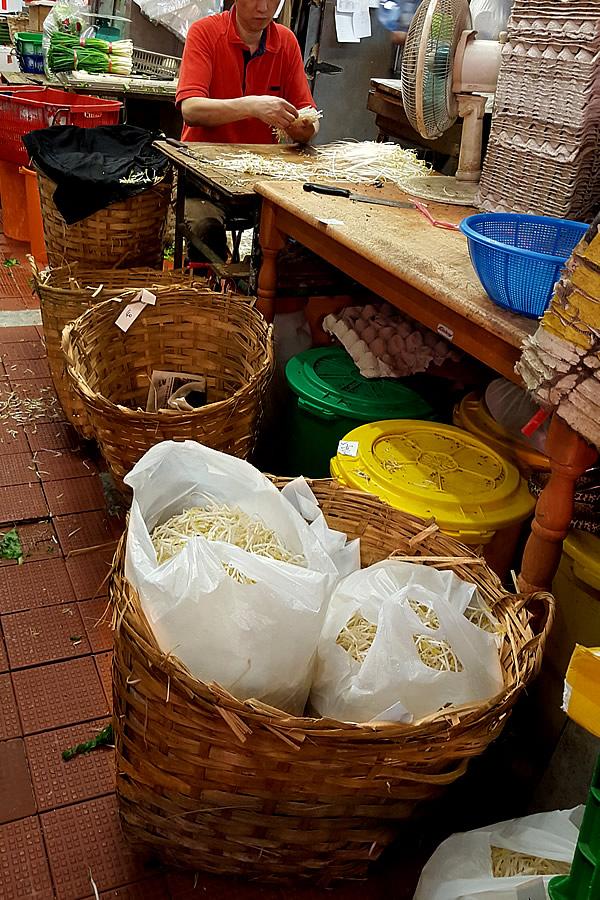 Hong Kong bamboo basket