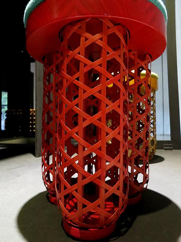 台湾で見た竹椅子