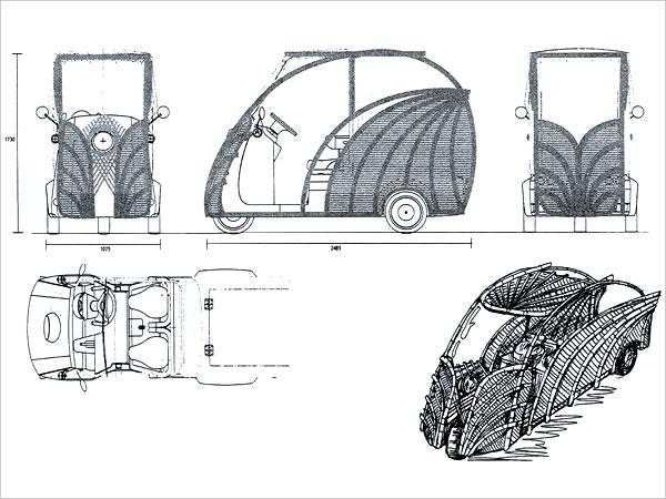日本唯一の虎竹自動車プロジェクトデザイン画