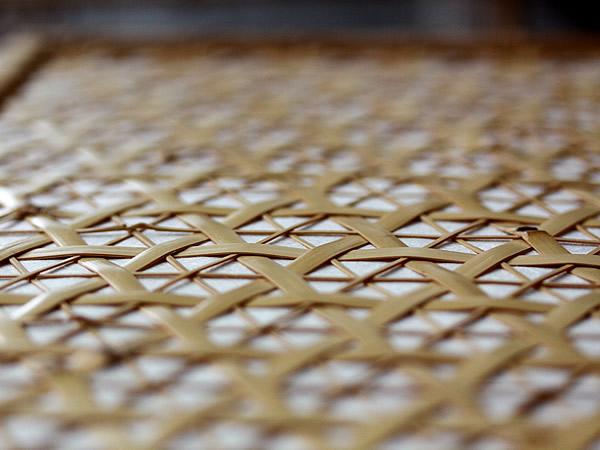 白竹フロアライト編み目